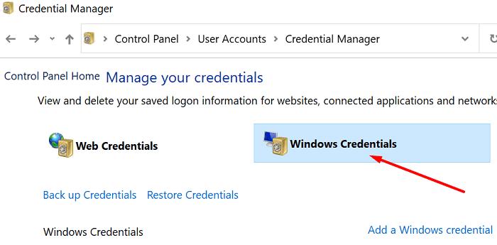 Credenciales de Windows