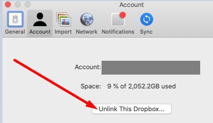 Desactivar este dropbox