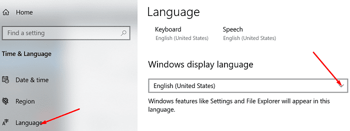 Cambiar el idioma de visualización de Windows