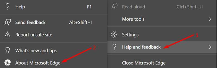 Actualizar la versión del navegador Edge