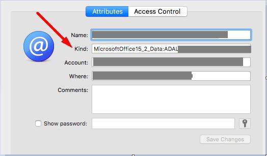 Acceso a llaveros Microsoft Office
